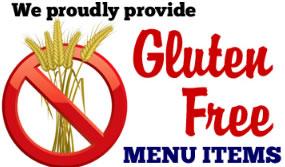 Gluten Free Menu Items